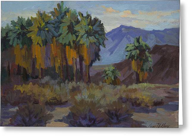 Afternoon Light At Thousand Palms Greeting Card by Diane McClary
