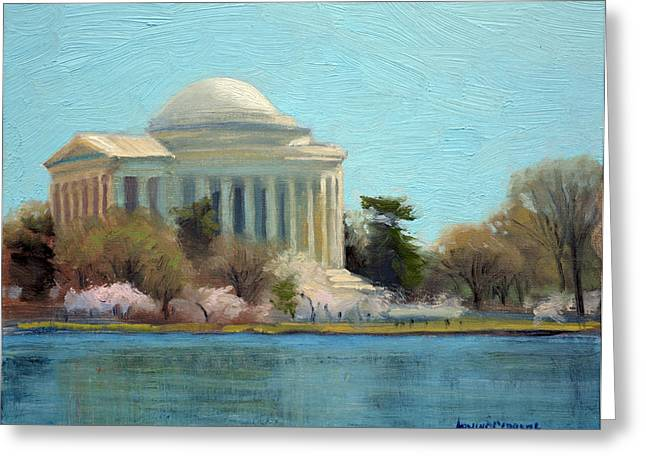 Afternoon Light Jefferson Memorial Greeting Card by Armand Cabrera