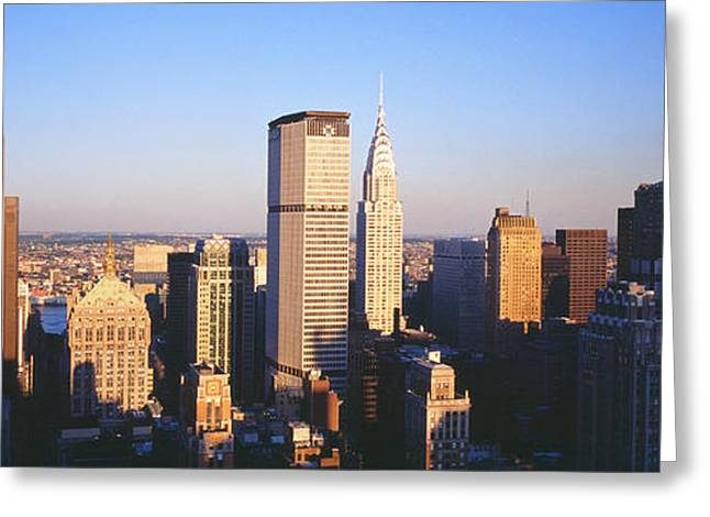 Afternoon Midtown Manhattan New York Ny Greeting Card by Panoramic Images
