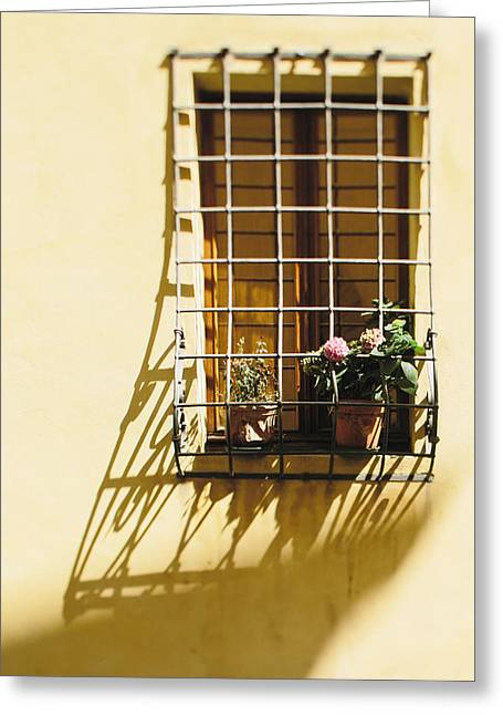 Afternoon Shadow In Montepulciano Greeting Card by Clint Brewer