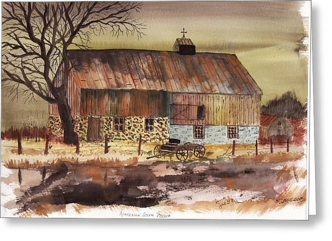Greeting Card featuring the painting Afternoon Storm Passed by Jack G  Brauer