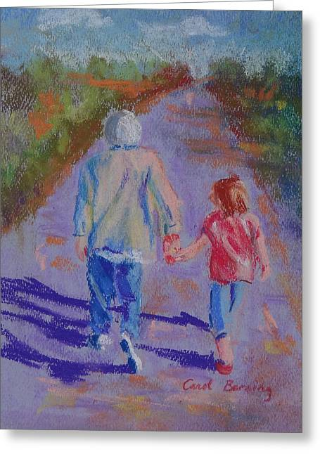 Afternoon Stroll Greeting Card by Carol Berning