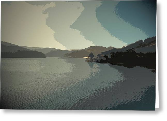Afternoon Sun Over Ladybower Reservoir,  Afternoon Sun Greeting Card by Litz Collection