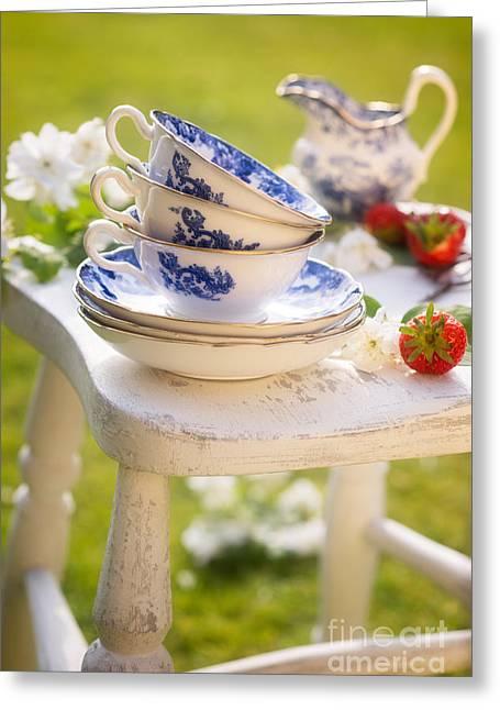 Afternoon Tea Greeting Card by Amanda Elwell