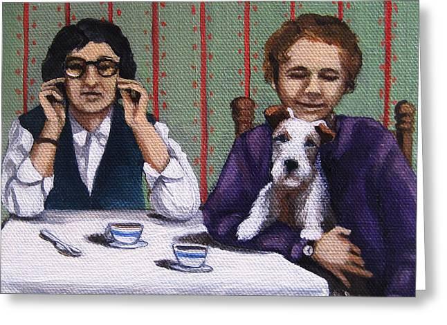 Afternoon Tea Greeting Card by Linda Apple