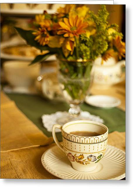 Afternoon Tea Time Greeting Card by Andrew Soundarajan