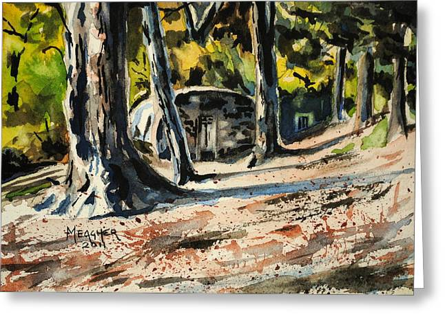 Afternoons Long Shadows Greeting Card by Spencer Meagher