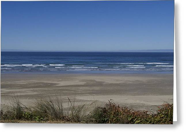 Agate Beach Lookout Greeting Card by Thaimi Mayes