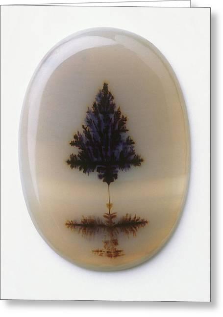 Agate Polished Semiprecious Gemstone Greeting Card