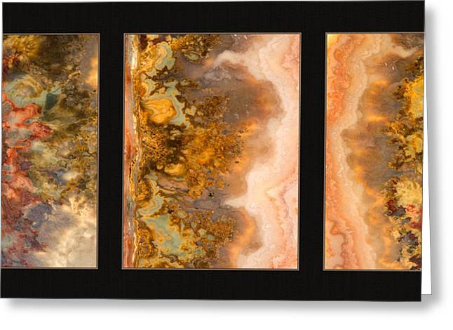 Agate Triptych 2 Greeting Card