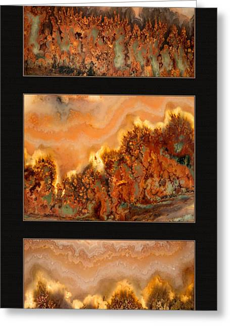 Agate Triptych 4 Greeting Card