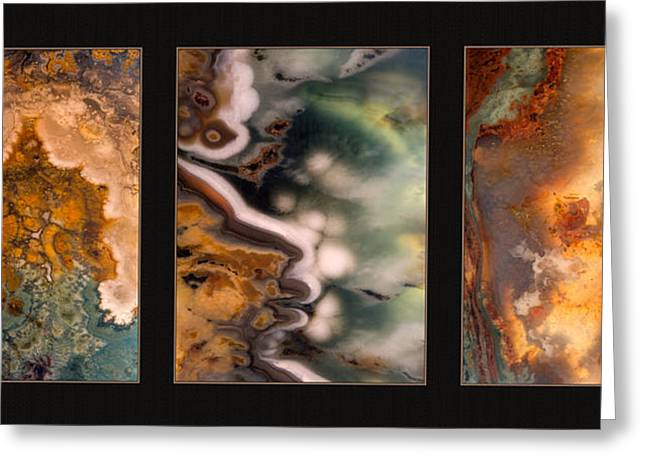 Agate Triptych 5 Greeting Card by Leland D Howard