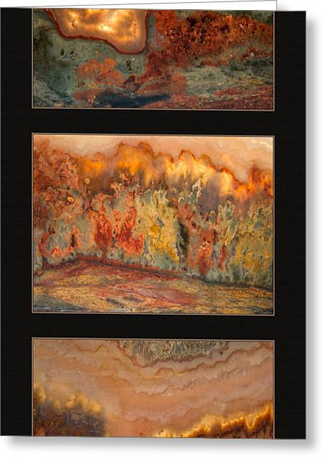 Agate Triptych 7 Greeting Card