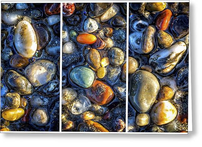 Agates Greeting Card by Christopher Cutter