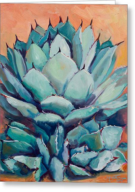 Agave With Pups Greeting Card