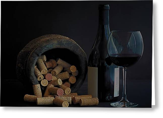 Greeting Card featuring the photograph Aged Wine by Marwan Khoury