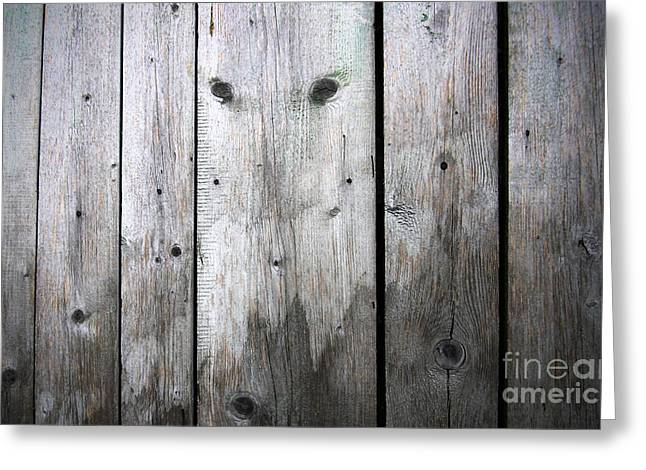 Aged Wood Boards Greeting Card by Jolanta Meskauskiene
