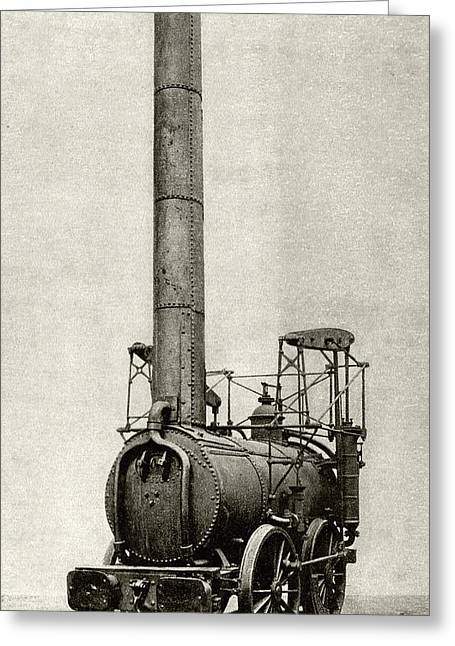 Agenoria Locomotive Greeting Card by Cci Archives