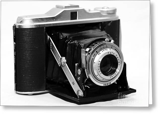 Agfa Isollete Camera Greeting Card by John Rizzuto