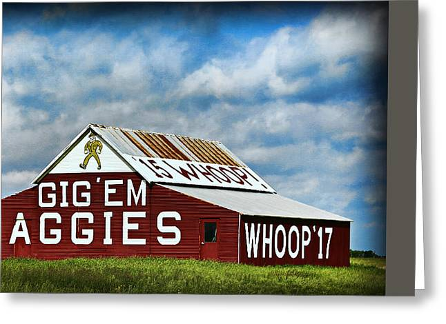 Aggie Barn 3 - Gig Em Greeting Card