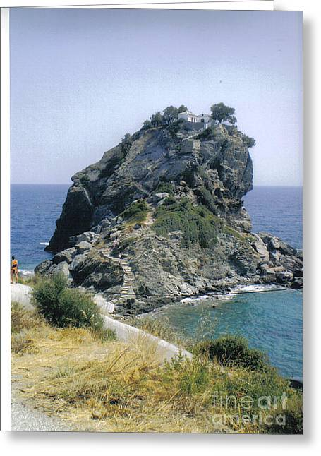 Agios Ioannis Sto Kastraki Greeting Card by Katerina Kostaki