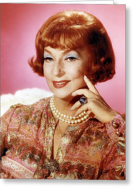 Agnes Moorehead In Bewitched  Greeting Card by Silver Screen