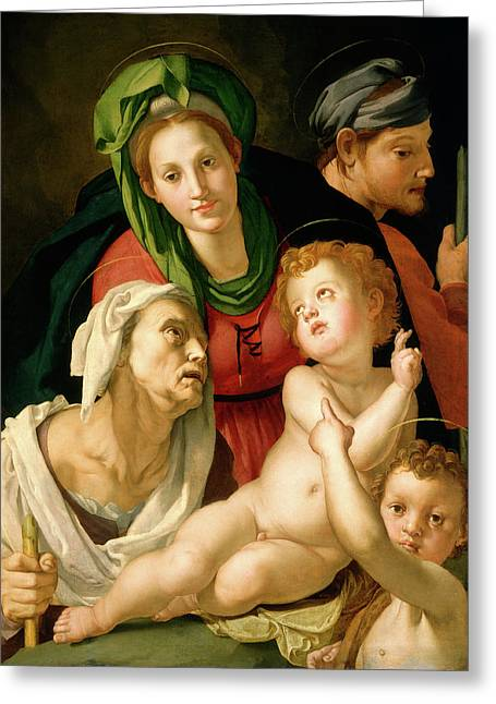 Agnolo Bronzino, The Holy Family, Italian Greeting Card by Litz Collection