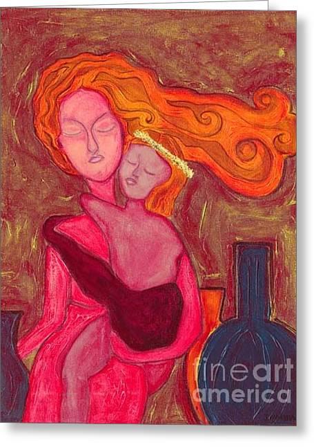 Agnus Dei 1 Greeting Card by Jennifer Wilkinson Rynbrandt