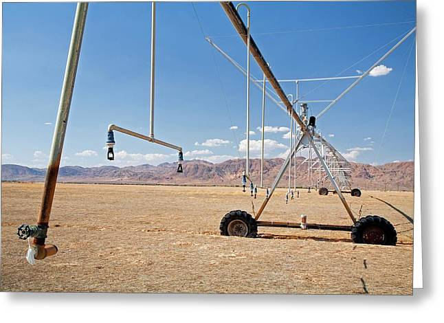 Agricultural Irrigation Equipment Greeting Card by Jim West