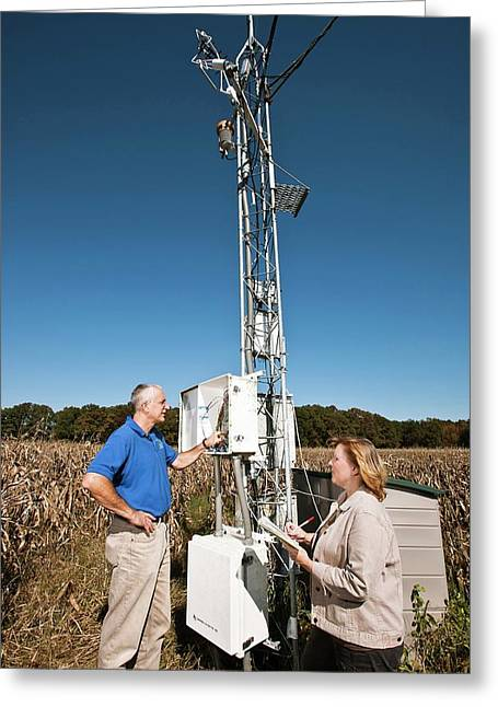Agricultural Weather Station Greeting Card by Peggy Greb/us Department Of Agriculture