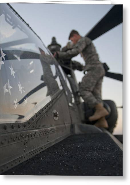 Ah-64d Apache Helicopter Greeting Card