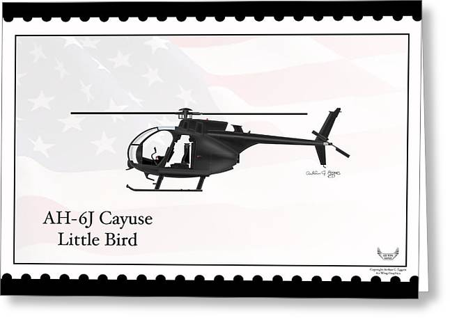 Ah-6j Cayuse Little Bird Greeting Card