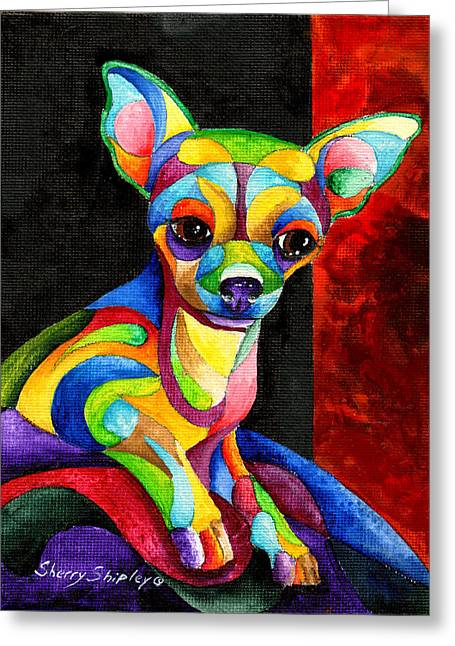 Ah Chihuahua Greeting Card