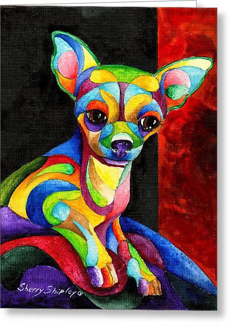 Ah Chihuahua Greeting Card