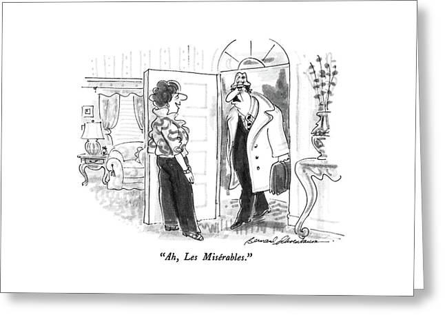 Ah, Les Miserables Greeting Card