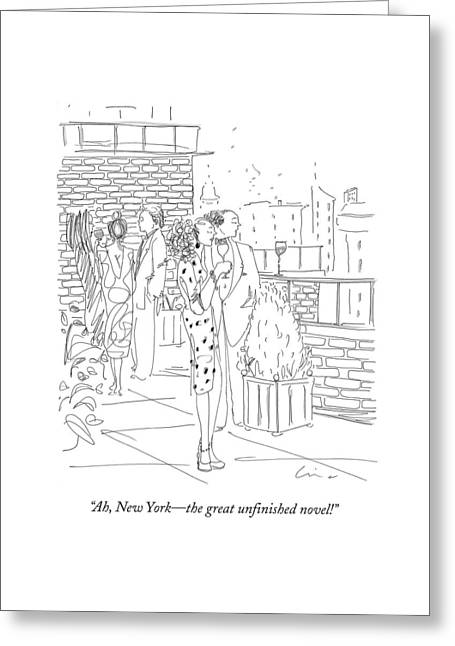 Ah, New York - The Great Unfinished Novel! Greeting Card