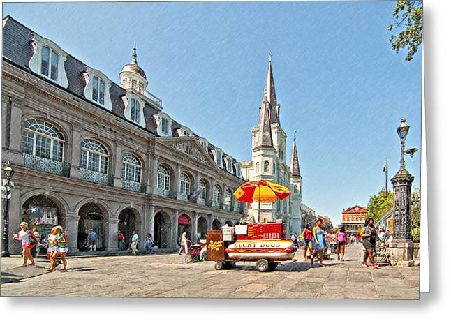 Ahh...new Orleans Sketch Greeting Card
