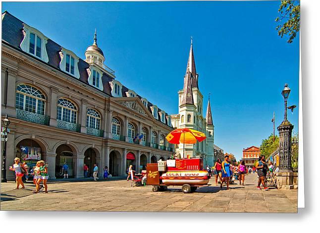 Ahh...new Orleans Greeting Card by Steve Harrington