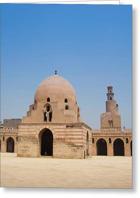 Ahmed Ibn Tulun Mosque, Cairo, Egypt Greeting Card by Nico Tondini