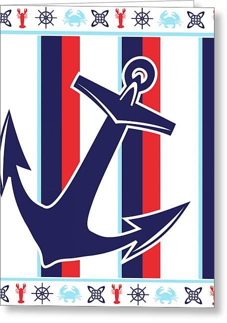 Ahoy Ix Greeting Card