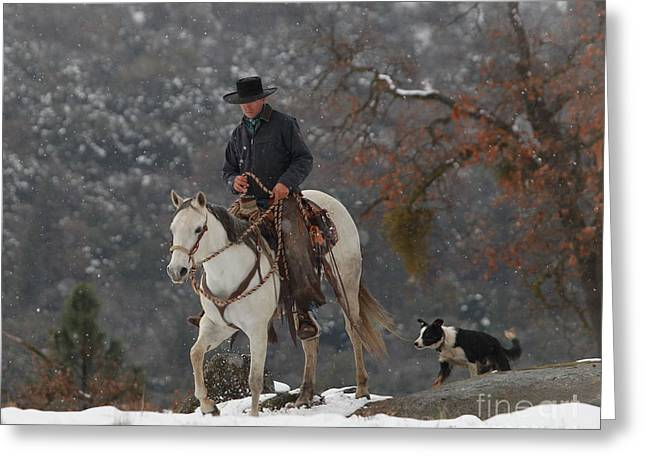 Ahwahnee Cowboy Greeting Card