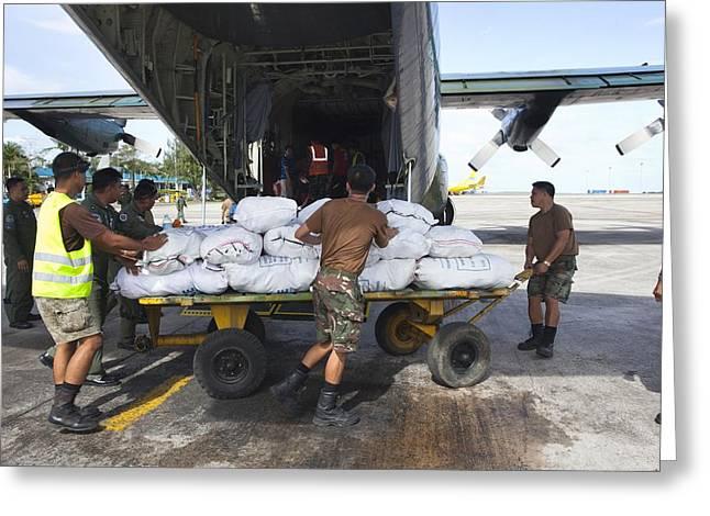 Aid For Super Typhoon Haiyan Survivors Greeting Card by Jim Edds