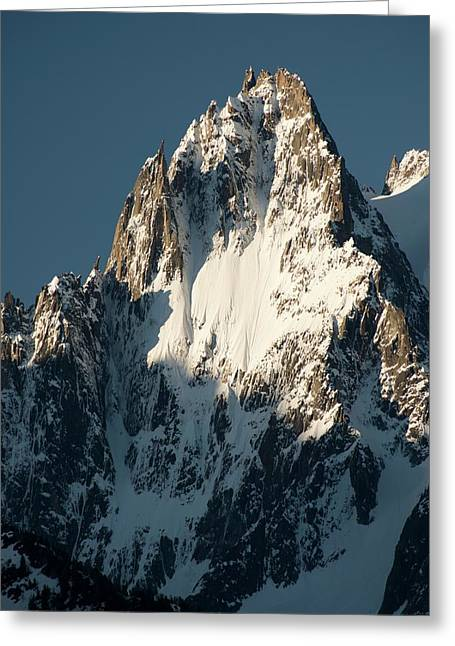 Aiguille Des Grands Charmoz Greeting Card by Duncan Shaw