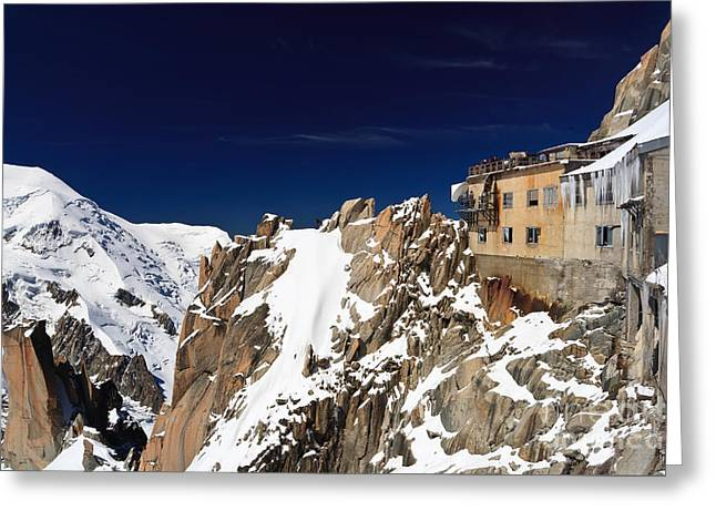 Aiguille Du Midi -  Mont Blanc Massif Greeting Card by Antonio Scarpi