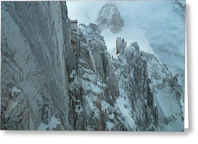 Aiguille Du Midi Mount Blanc Greeting Card by Frank Wilson