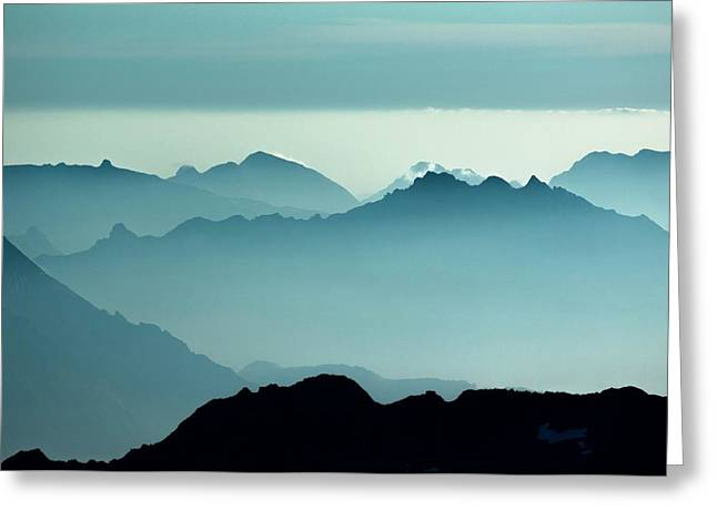Aiguilles Rouges Nature Reserve Greeting Card by Duncan Shaw