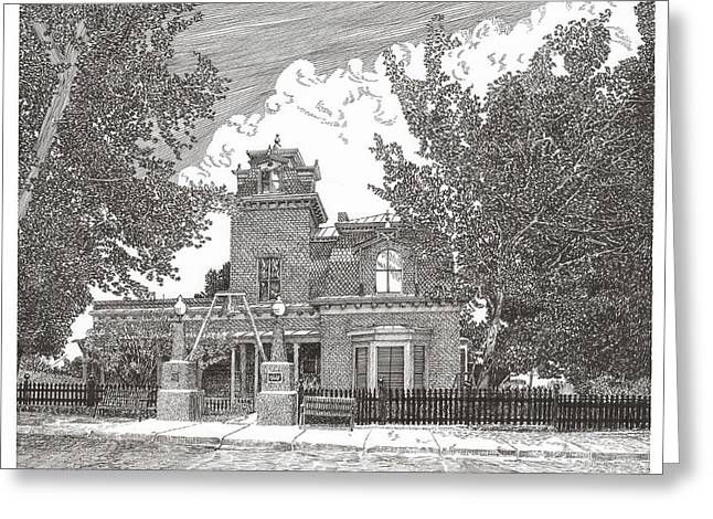 Silver City  N M Ailman House Greeting Card
