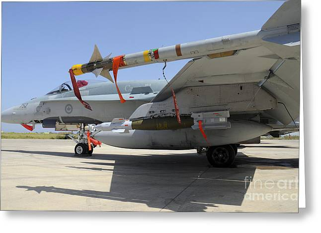 Aim-9l Sidewinder Missile And Gbu-12 Greeting Card