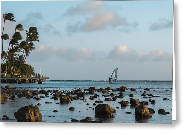 Aina Haina Windsurfer 1 Greeting Card