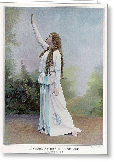 Aino Ackte  Finnish Opera Singer, Seen Greeting Card by Mary Evans Picture Library